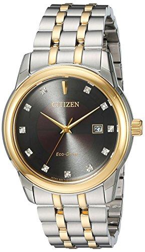 Citizen-Mens-PAIRS-Quartz-Stainless-Steel-Casual-Watch-ColorTwo-Tone-Model-BM7344-54E