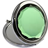 KOLIGHTDouble Sides (One is Normal,Another is Magnifying)Portable Foldable Pocket Metal Makeup Compact Mirror Woman Cosmetic Mirror (Green)