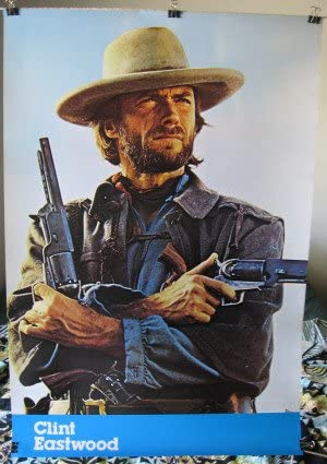 Clint Eastwood Cowboy Awesome BW Poster