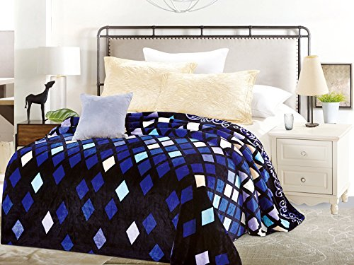 Flannel Fleece Blanket, Super Soft Warm Fuzzy Printed All Season Bed Throw Blanket is For Adults Kids Home Bed Sofa Outdoor Travel And Many Uses. Queen 76