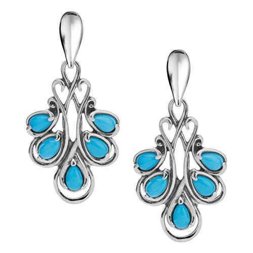 Carolyn Pollack Sterling Silver Sleeping Beauty Turquoise Drop ()