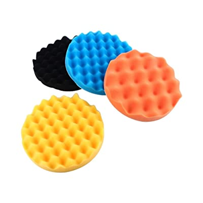 Polishing Pads,4Pcs 7 inches Car Polishing Sponge Foam Pads Buffing Wax Polisher Set: Automotive