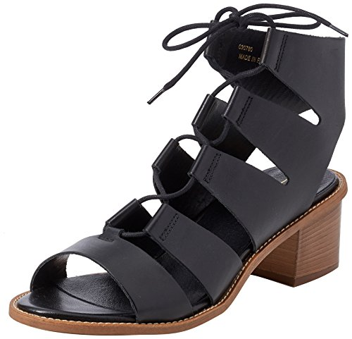 Misteria Negro black Gladiador 00078 De Sandalias Para Leather Office Mujer TWHwqpCpd