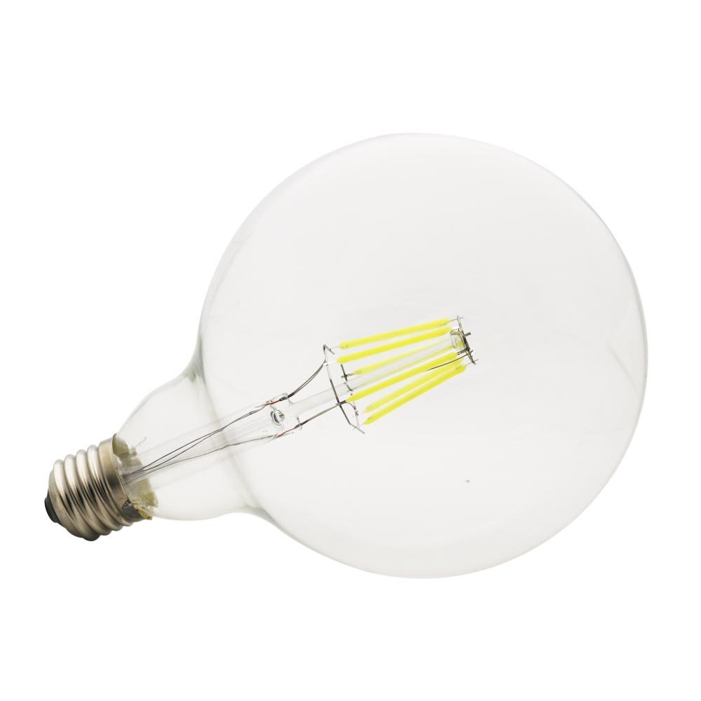 Mengjay Trade Kaltweiß 6000K Packung Mit 5 LED G125 E27 Edison Glühbirne  Filament 6W Ersetzt 45W 500lm Retro Vintage Lampe ...