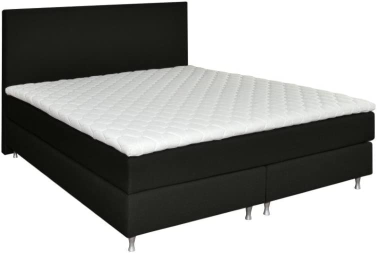 Cama somier, 180 x 210 H3 Cubre colchón Incluido, Color Gris ...