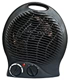 Royal 1500 Watt Whisper Quiet Fan Space Heater Compact with Smart Adjustable Thermostat Ceramic Heaters