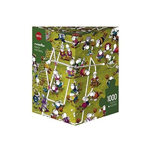huge discount 49b0a 42e3b Heye - Heye-29091 - Puzzle Classique - Crazy Football - Mordillo - 1000  Pièces