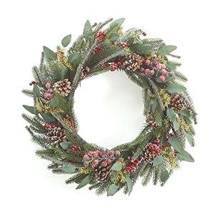 "Burton & Burton Wreath 22"" Frosty Pine 26"