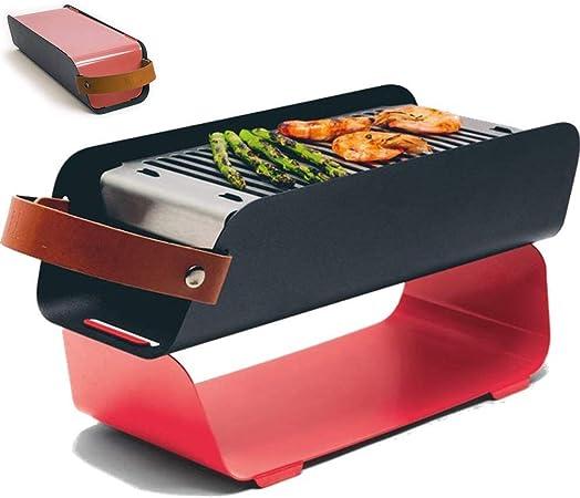 DNNAL Parrilla de carbón portátil, Shish Kebab Brocheta ...