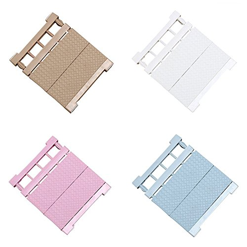 Scalable Layered Separator Adjustable Storage Rack Shelf for Wardrobe Refrigerator Cupboard Kitchen Bathroom Random Colour (30-40)x35cm
