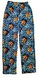 Big Boys Polar Fleece Pajama Pants very soft touch (7/8, Basketball/turq)