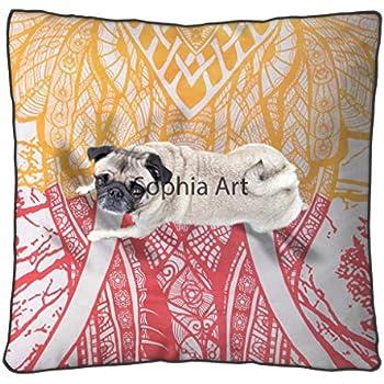 Amazon.com: Sofía Art - Almohada de suelo cuadrado grande ...