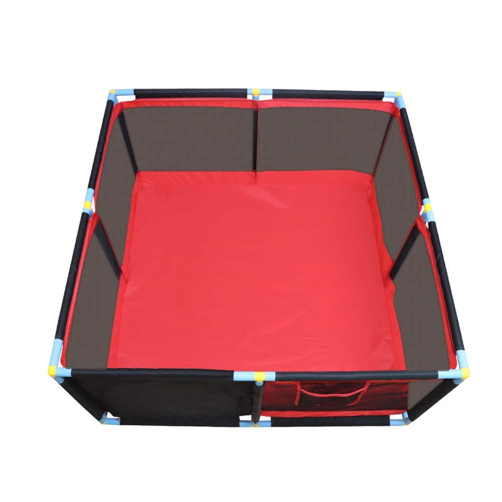 フェンスポータブルベビープレイペン、室内遊び場安全保護フェンス、男の子のためのゲームフェンス   B07KTL85XQ