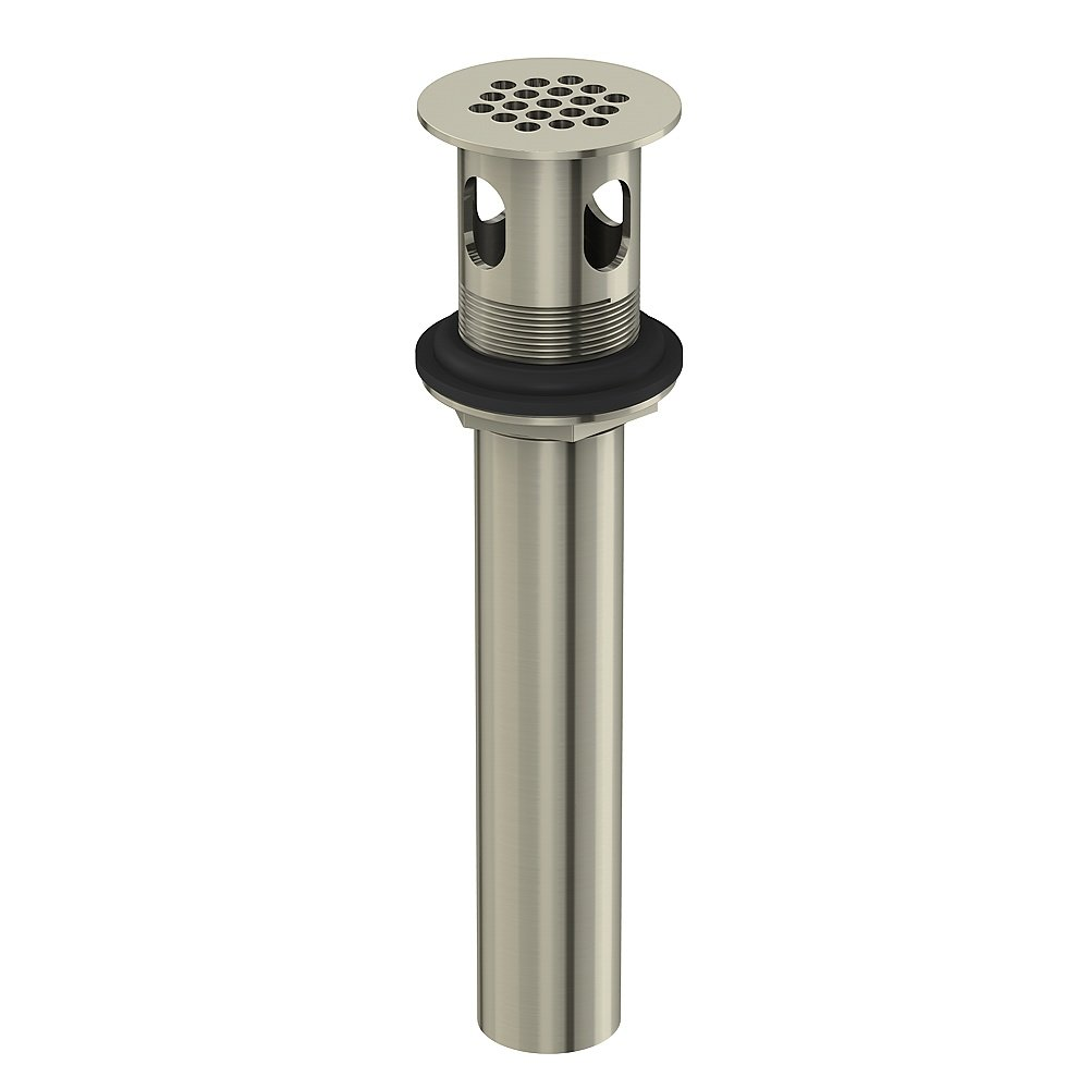 Danze DA505084BN Metal Grid Strainer Assembly with Overflow, 1 1/4-Inch Tailpiece Diameter, Brushed Nickel