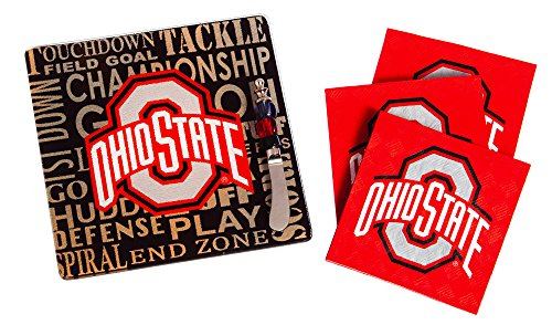 Team Sports America Ohio State Buckeyes Tailgating Napkin, Spreader and Surface Saver Party Set