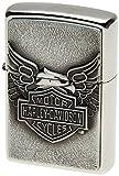 Zippo Harley-Davidson Eagle on Logo Emblem Lighter (Silver, 5 1/2 x 3 1/2 cm)