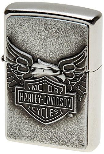 Zippo Harley-Davidson Eagle on Logo Emblem Lighter