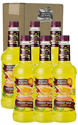 Master of Mixes Whiskey Sour Mix, 33.81-Ounce (Pack of 6)