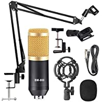 StarCart BM 800 Professional Condenser Microphone For Singing Sound Dynamic Set With Shock Mount Adjustable Suspension Scissor Arm Stand For Youtuber