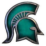 Gear New Michigan State University Spartan 3D Vintage Metal College Man Cave Art, Large, Green/Silver