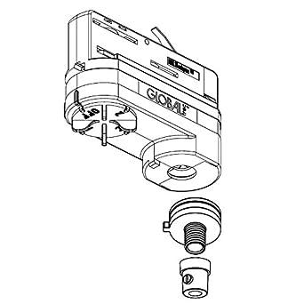 3-Phasen Multiadapter schwarz Gewinde M13x1 komplett