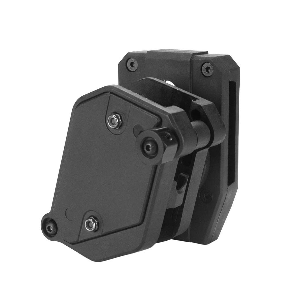 KRYDEX IPSC USPSA IDPA Competition Shooting Multi-Angle Adjustment Speed Shooter's Pistol Magazine Pouch Mag Holster Holder (BK)