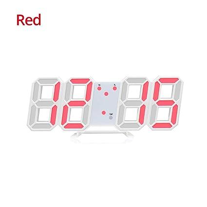Amazon.com: LED Digital Alarm Clock for Desk/Shelf/Tabletop ...