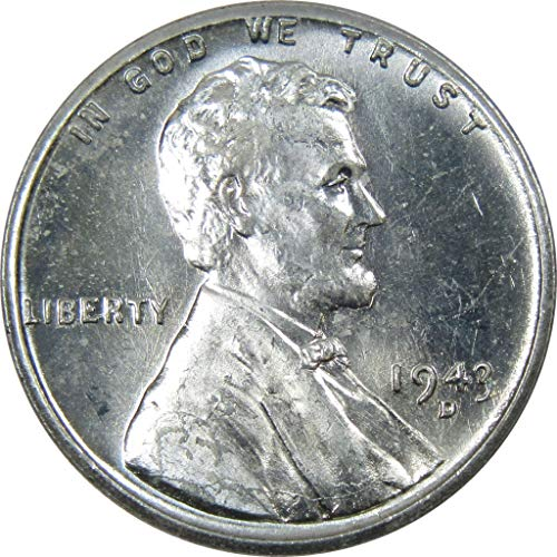 - 1943-D 1c Lincoln Steel Wheat Cent Penny Uncirculated Mint State