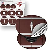 Decal Style Vinyl Skin Wrap 3 Pack for PopSockets Football (POPSOCKET NOT INCLUDED) by WraptorSkinz