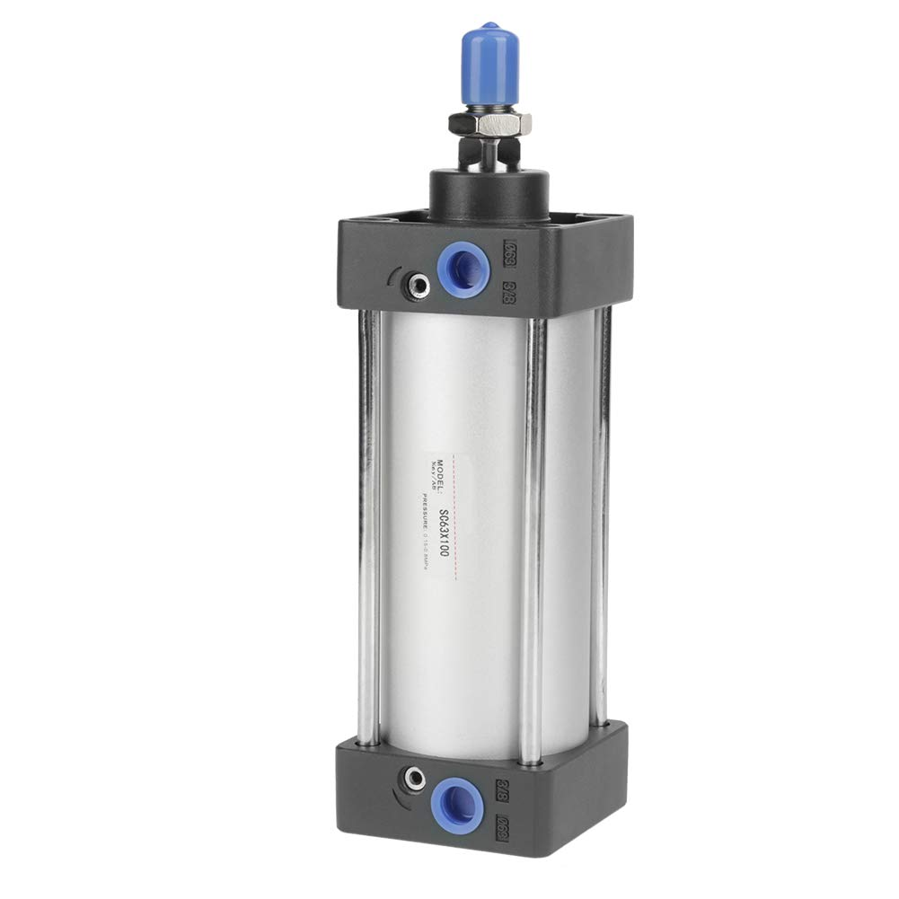 Pneumatic Air Cylinder Dual Action 63mm Bore 100mm Mini Stainless Steel Stroke Screwed Piston Rod