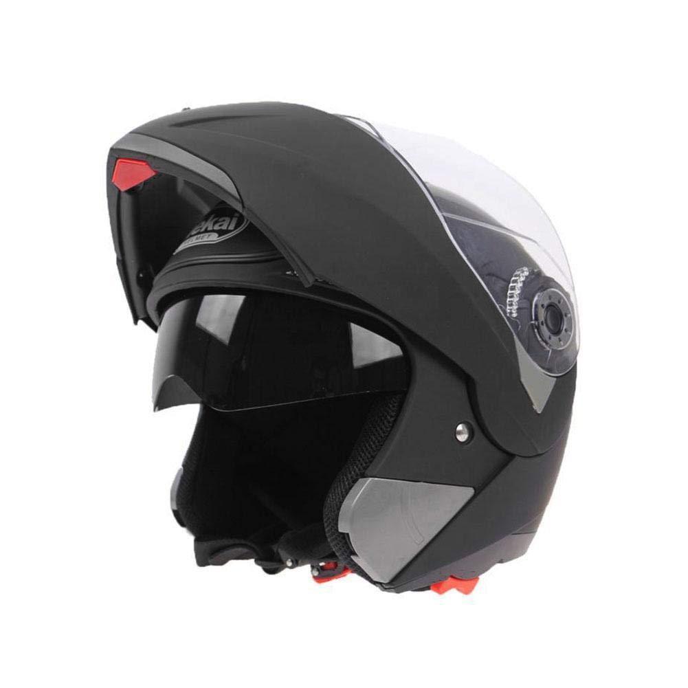 ZHIXX MALL Casque de moto int/égral /à visi/ère avec protection solaire
