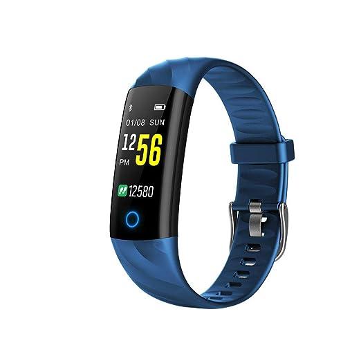 Smartwatch y Fitness Reloj Hombre Pulsera Reloj Sport Smart Reloj Digital multifunción Pulsera Fitness Reloj Bluetooth frecuencia cardíaca Fitness Pulsera ...