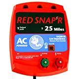 Red Snap'r EAC25M-RS 25-Mile AC Low Impedence Fence Charger