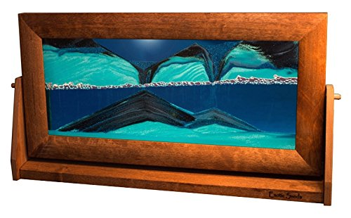 Exotic Sands Moving Sand Pictures - X Large Alder (Ocean Blue) XL11 AMERICAN MADE QUALITY - Best Family Gift Idea! Great Executive Men's (Sand Gift)