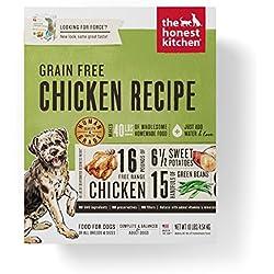 Honest Kitchen Human Grade Dehydrated Grain Free Chicken Dog Food 10 lb Box ??? Force