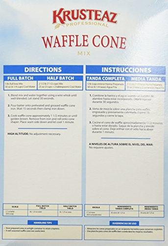 Amazon Com Krusteaz Waffle Cone Mix 5lb 2 Bags Restaurant