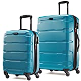 Samsonite Omni PC 2 Piece Set of 20 and 28 Spinner Caribbean Blue