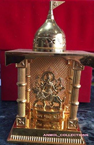 Pooja Article Home/Temple/ Office Decor Mata Ji Mandir GoldPlated Artware Statue (Pooja Decor Home)