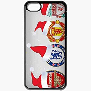 Personalized iPhone 5C Cell phone Case/Cover Skin Arschelmanliv English Premier League 0809 The FA Manchester United Arsenal Liverpool Chelsea Football Black