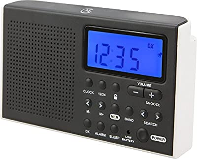 GPX Shortwave Radio, 5.07 x 1.36 x 3.12 Inches, Requires 2 AA Batteries (Not Included), Black (R616W) from DPI