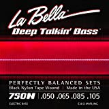 La Bella 750N Black Nylon Tape Wound Bass Strings - Light - 50-105