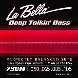 La Bella Deep Talkin\' Bass Black Nylon Tape Wnd 50-105