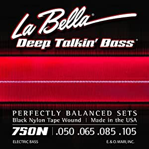 la bella 750n black nylon tapewound bass strings light musical instruments. Black Bedroom Furniture Sets. Home Design Ideas