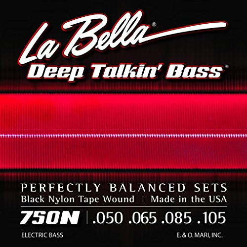 (La Bella 750N Black Nylon Tapewound Bass Strings - Light)