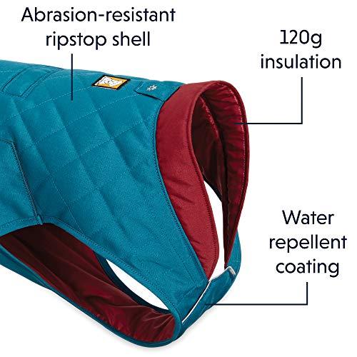 RUFFWEAR - Stumptown Insulated, Reflective Cold Weather Jacket for Dogs, Metolius Blue, X-Small by RUFFWEAR (Image #3)