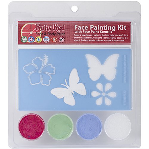 A Cherry On Top Ruby Red Face Painting Stencil Kit, -