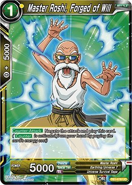 (Master Roshi, Forged of Will (Foil) - TB01-076 - UC - The Tournament of Power)