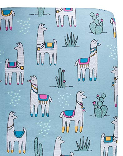 100% Organic Cotton Crib Sheets (GOTS) by Captain Silly Pants: Soft, Fun Design Bedding for Infants & Toddlers, Eco-Friendly, Boys & Girls, Llama Llama Baby Crib Sheet