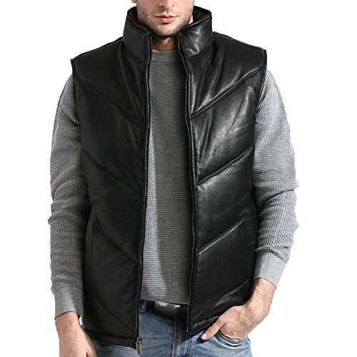 tanners-avenue-mens-lambskin-leather-bubble-vest-chevron-size-3x-black