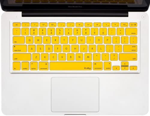 """YELLOW Silicone Keyboard Cover for Macbook Pro 13/"""" A1278 REDUCE OVERHEAT"""